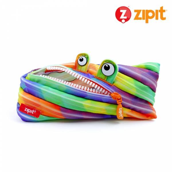 Zipit 怪獸拉鍊包迷彩系列(中)-彩色抽象 怪獸拉鍊包、零錢包