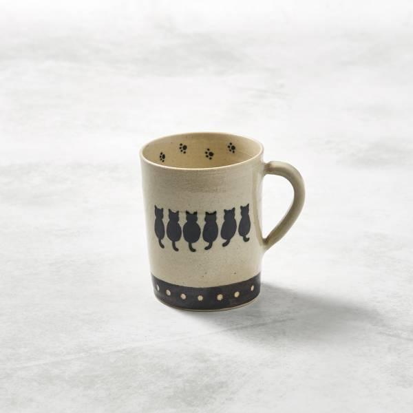 日本設計師系列 - 緣起貓直筒馬克杯 - 250 ml 手繪,手作,職人,日本製,陶器,食器