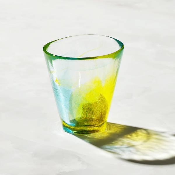 日本富硝子 - 手作夏日六角冰晶杯 - 檸檬蘇打 (170ml) 日本,玻璃,玻璃杯,飲料杯