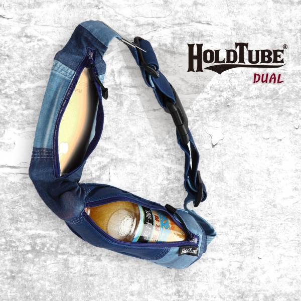 HOLDTUBE 運動腰帶-雙口袋-個性丹寧 運動腰帶、水瓶袋、時尚單品、運動配件