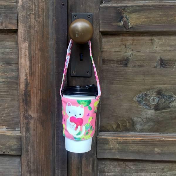 剪刀兔本鋪–飲料提袋–仙人掌與白貓 環保提袋、水壺周邊
