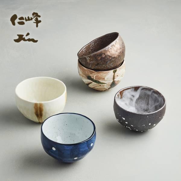 日本AWASAKA美濃燒- 禪風釉燒小丼碗組 (5件式) 日本,茶碗,飯碗,湯碗,造型碗