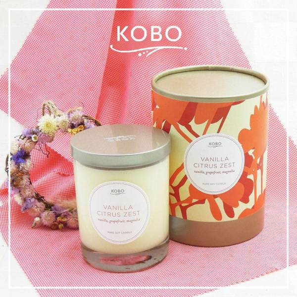 KOBO 美國大豆精油蠟燭 - 熱情香草 (330g/可燃燒80hr) 精油蠟燭、蠟燭