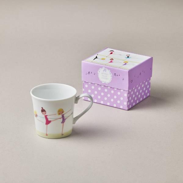日本美濃燒 - 芭蕾舞精裝馬克杯 - 來伸展 (300ml) ★ 高質感、安心無毒,日常食器首選