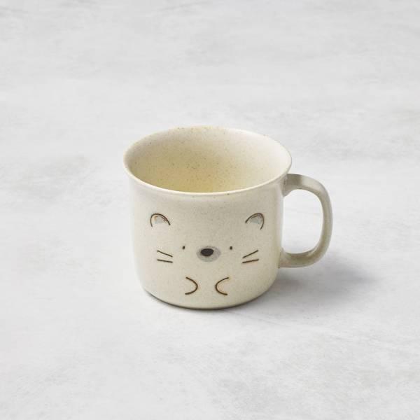 日本AWASAKA美濃燒- 默默刺蝟馬克杯 (300ml) 日本,盤,餐具組