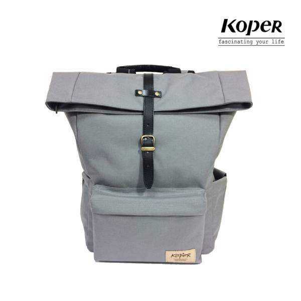 KOPER  心實袋系列 - 單扣休閒後背包-漫步灰 後背包、台灣設計製造
