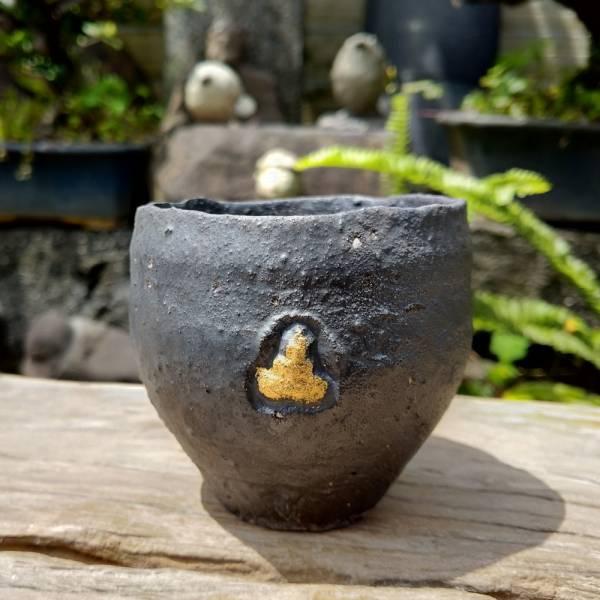吳仲宗|自在心中系列-手做綴金柴燒杯 C 陶瓷;花瓶;擺飾;手繪;三芝藝術家
