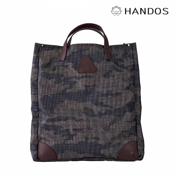 HANDOS|Old Pal 超輕帆布肩背手提托特包 - 迷彩紫 帆布,防水,真皮,設計師,台灣設計,訂製五金,植鞣皮革