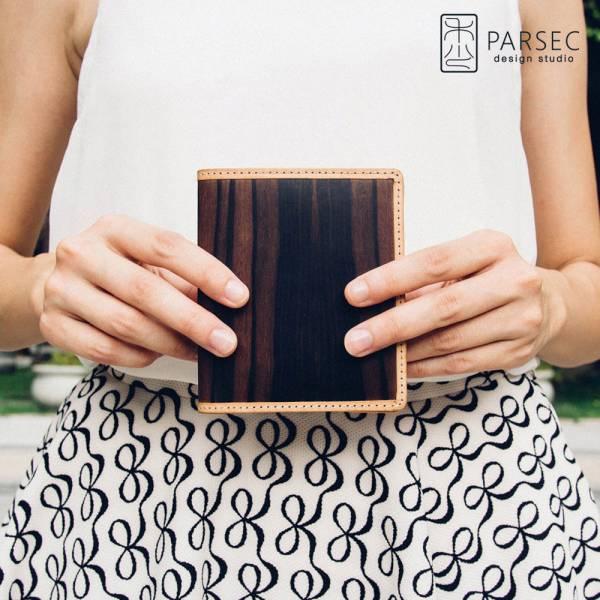 PARSEC|樹革黑檀短夾 樹革,自然,手工,台灣製