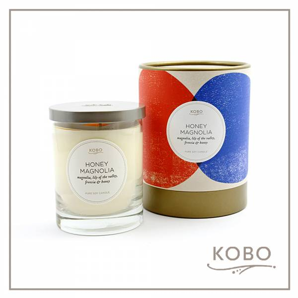 KOBO 美國大豆精油蠟燭 - 甜蜜蘭香 (330g/可燃燒80hr) 精油蠟燭、蠟燭