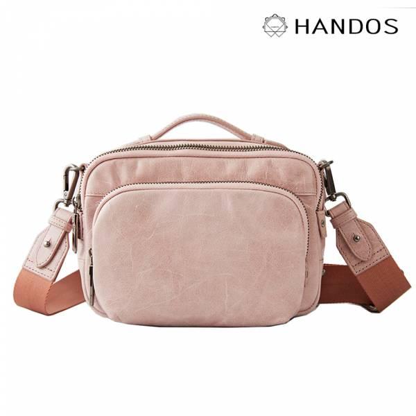 HANDOS|Filter 水洗皮革經典相機包 - 粉紅 真皮,設計師,台灣設計,訂製五金,植鞣皮革