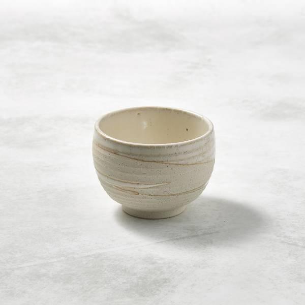 日本KOYO美濃燒- 手感和風茶杯 - 白刷毛 ★ 日本進口品質保證,檢驗合格餐具