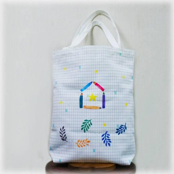 剪刀兔本鋪–雙面帆布袋–鉛筆  設計包、肩背包、環保袋、隨身包