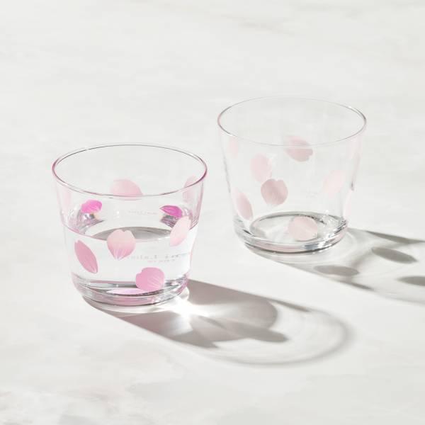 日本富硝子 - 變色自由杯 - 吉野櫻花雨 - 雙件組 (220ml) 日本,玻璃,玻璃杯,飲料杯,酒杯