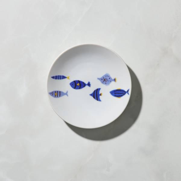 日本晴九谷燒 - 染付青鳥小盤 ★ 全部日本原裝精緻禮盒,送禮適宜