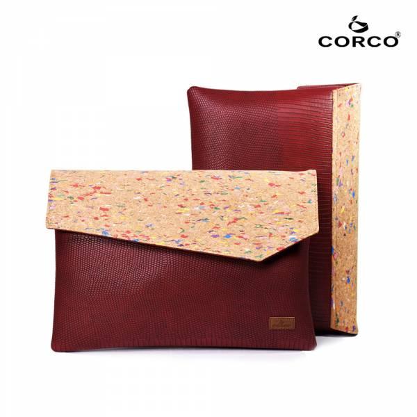CORCO 軟木文件手拿包-繽紛紅 軟木,韓國,環保
