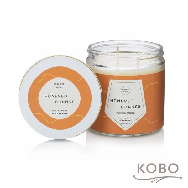 KOBO 美國大豆精油蠟燭 - 蜜香甜橙 (450g/可燃燒 65hr) 精油蠟燭,蠟燭,美國,香氛,天然,手工,旅行