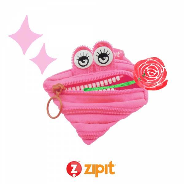 (5折出清)–Zipit 怪獸拉鍊包(小)-桃粉 怪獸拉鍊包、零錢包