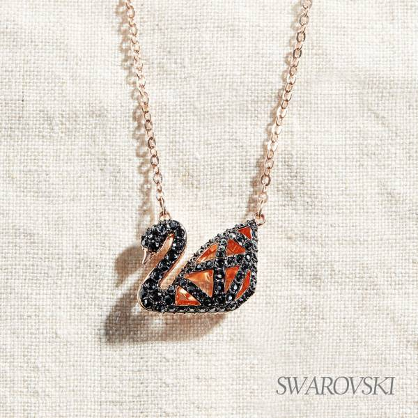 【SWAROVSKI】施華洛世奇 Facet Swan 幾何黑天鵝項鏈 幾何,現代,品牌,項鍊,SWAROVSKI,水晶,天鵝,施華洛世奇,經典,禮物,奧地利