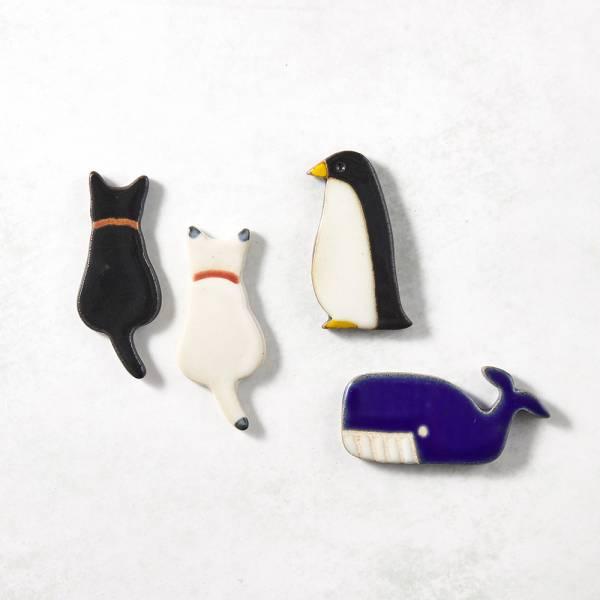 日本KOYO美濃燒- 陶製手作筷架 - 動物樂園四件組 ★ 日本進口品質保證,檢驗合格餐具