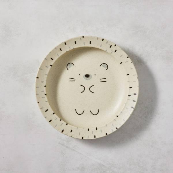 日本AWASAKA美濃燒- 默默刺蝟深盤 (22.5cm) 日本,盤,餐具組