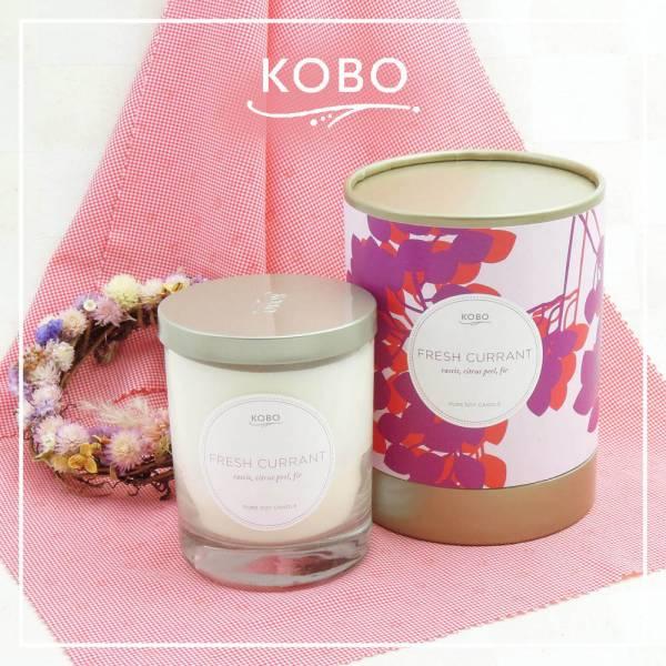 KOBO 美國大豆精油蠟燭 - 清新醋葡萄 (330g/可燃燒80hr) 精油蠟燭、蠟燭