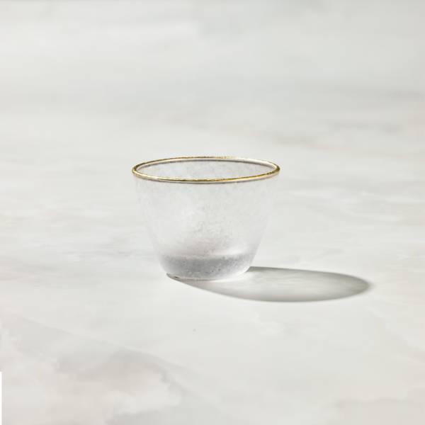 日本富硝子 - 私藏霧面小酌杯 - 麻葉紋 (90ml) 日本,玻璃,玻璃杯,飲料杯,酒杯,清酒杯