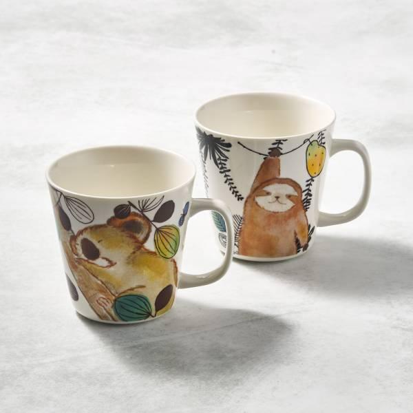 日本澤藍美濃燒 - 萌之軍團-馬克對杯組(2件式) 陶杯,日本製,食器,手工,檢驗合格,動物,茶杯,馬克杯