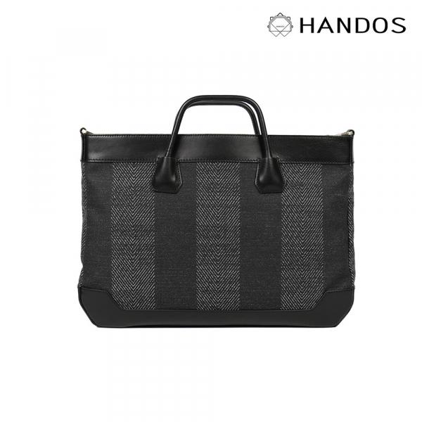 HANDOS|Lawyer 質感人字紋帆布公事包↘8折 公事包,真皮,設計師,台灣設計,訂製五金,植鞣皮革