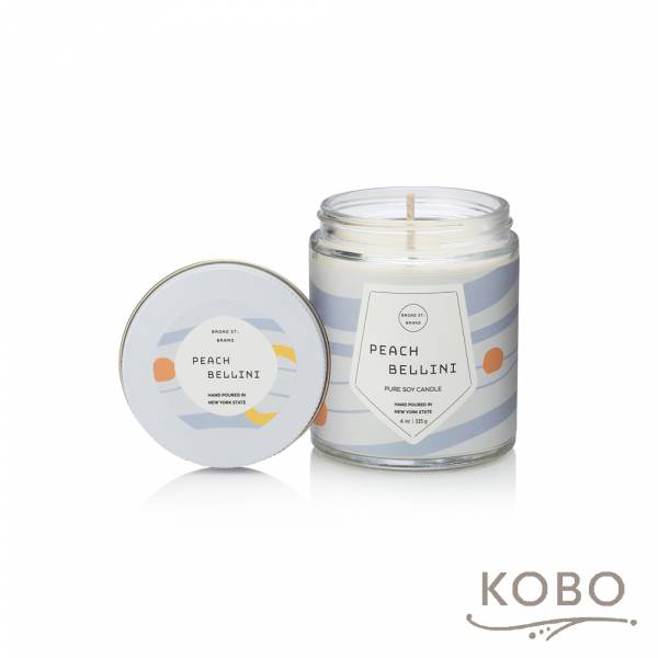 KOBO 美國大豆精油蠟燭 - 蜜桃貝里尼 (115g/可燃燒 20hr) 精油蠟燭,蠟燭,美國,香氛,天然,手工,旅行