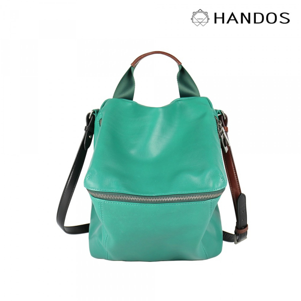 HANDOS|New Pimm's 輕便羊皮休閒肩背包 - 熱帶綠 真皮,設計師,台灣設計,訂製五金,植鞣皮革