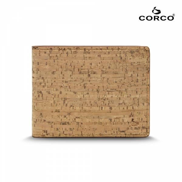 CORCO 簡約軟木短夾 - 原棕色 軟木,韓國,環保