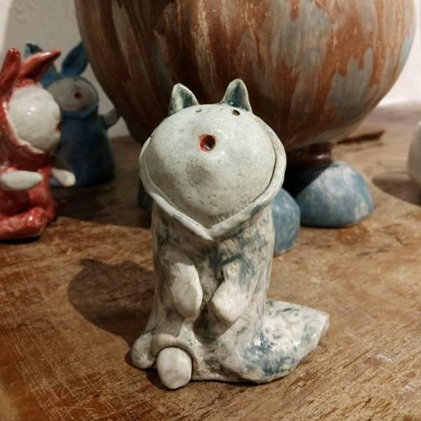 吳仲宗|給我抱抱系列-手捏陶偶 D  陶瓷;陶偶;擺飾;手繪;三芝藝術家