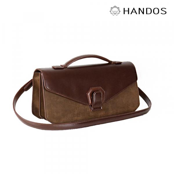 HANDOS|Melodica 二層風琴肩背包 - 灌木棕↘76折 復古,真皮,設計師,台灣設計,訂製五金,植鞣皮革