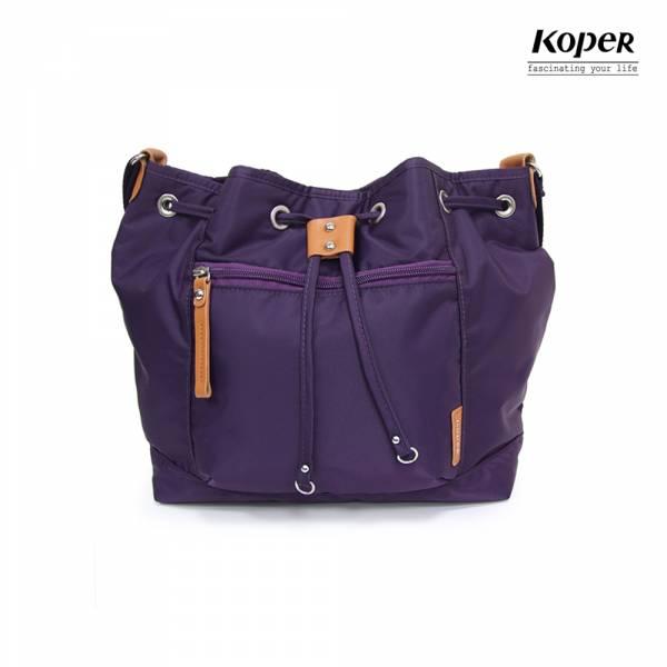 KOPER  輕甜焦糖系列-Brisk束口斜肩包-幻想紫 斜背包、肩背包、台灣設計製造
