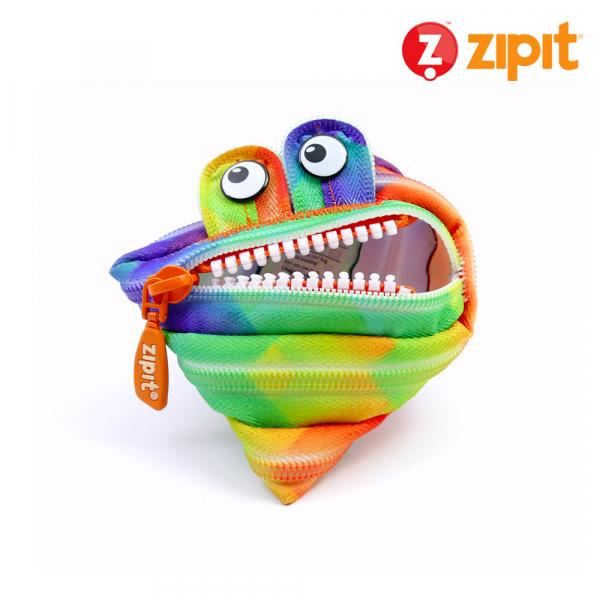 Zipit 怪獸拉鍊包迷彩系列(小)-彩色抽象 怪獸拉鍊包、零錢包