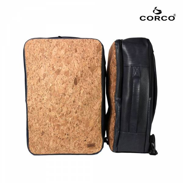 CORCO 軟木雙肩兩用後背包 - 海軍藍 軟木,韓國,環保