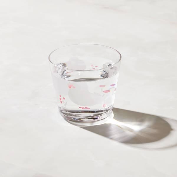 日本富硝子 - 變色自由杯 - 幸福白文鳥 (220ml) 日本,玻璃,玻璃杯,飲料杯