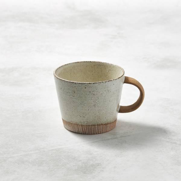 日本KOYO美濃燒- 細刻紋馬克杯 - 乳白 ★ 日本進口品質保證,檢驗合格餐具