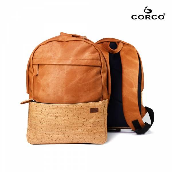 CORCO 軟木雙肩後背包-棕色 軟木,韓國,環保