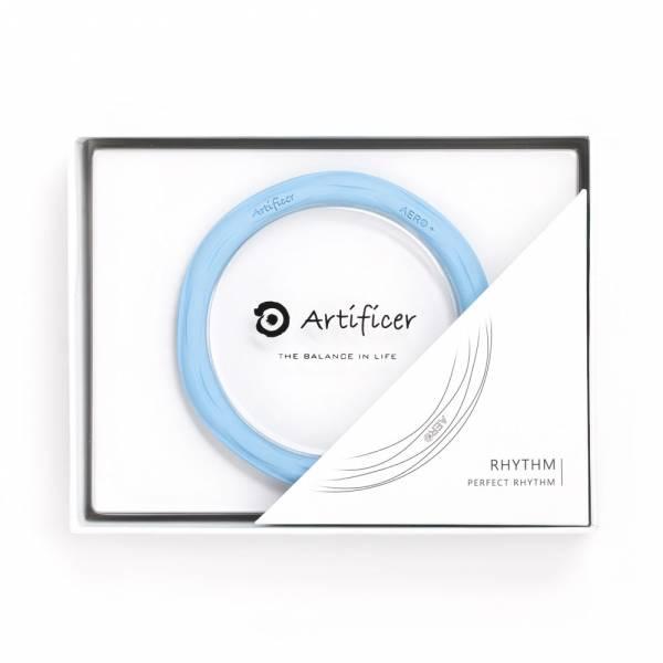 【Artificer】Rhythm 健康運動手環 - 粉藍 手環,飾品,天然礦物,健康,設計,生物電流,負離子,遠紅外線,安全,專利