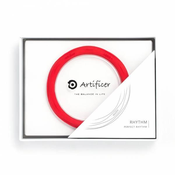 【Artificer】Rhythm 健康運動手環 - 紅 手環,飾品,天然礦物,健康,設計,生物電流,負離子,遠紅外線,安全,專利