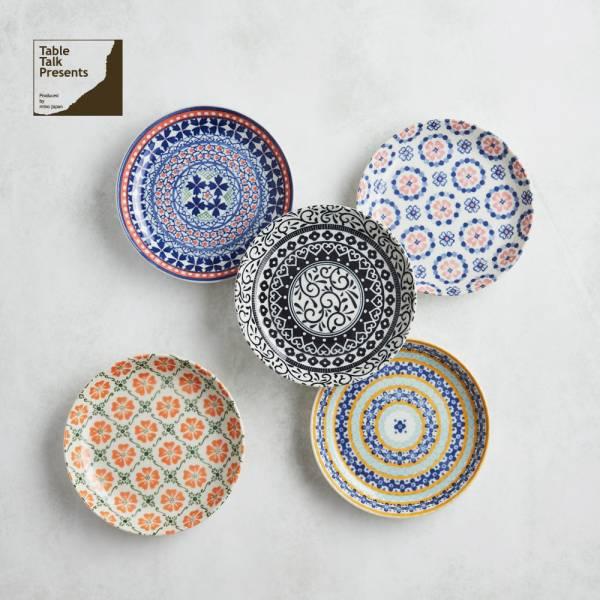 日本AWASAKA美濃燒- 心花朵朵麵包盤組 (5件式) 日本,盤,餐具組