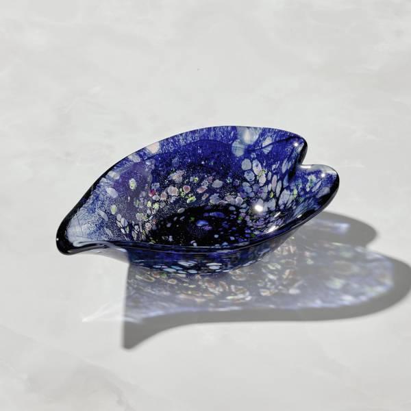日本富硝子 - 手作浮世花舞小缽 - 夏夜螢光 日本,玻璃,盤,餐具組