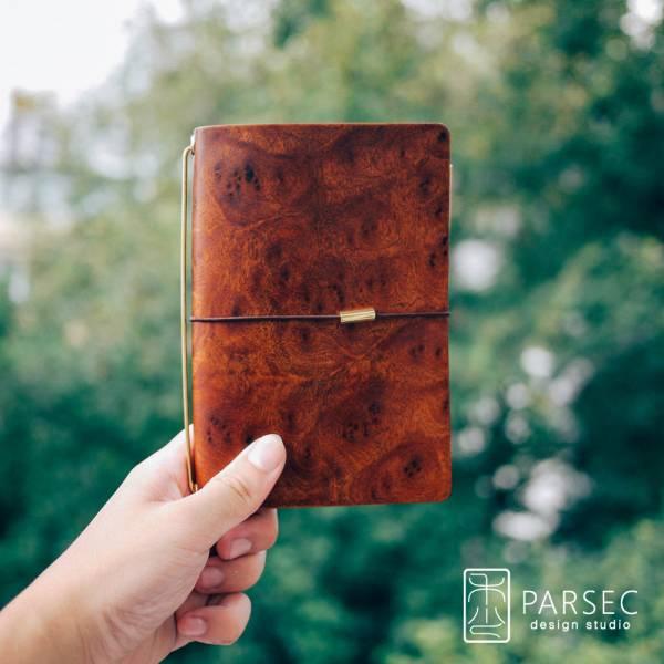 PARSEC 樹革花樟手帳  環保皮革,樹革,自然,手工,台灣製