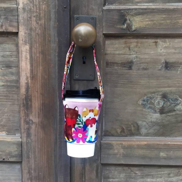 剪刀兔本鋪–飲料提袋–春天與貓   環保提袋、水壺周邊