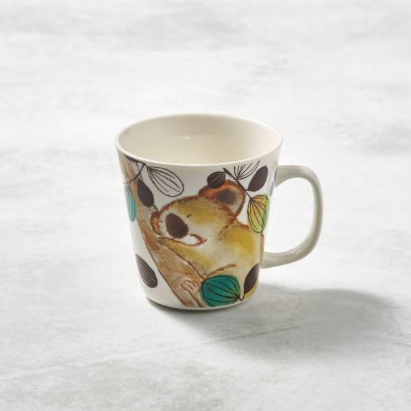 日本澤藍美濃燒 - 萌之系列馬克杯-趴樹無尾熊 陶杯,日本製,食器,手工,檢驗合格,動物,茶杯,馬克杯