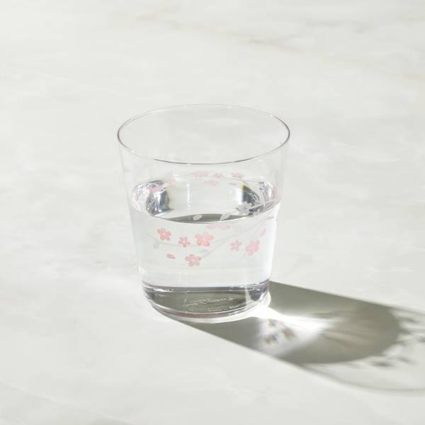日本富硝子 - 變色寬口水杯 - 初春櫻花 (300ml) 日本,玻璃,玻璃杯,飲料杯,水杯