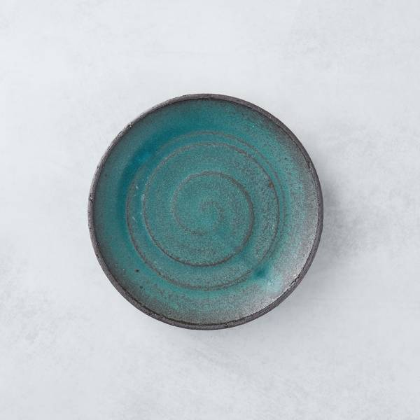 日本KOYO美濃燒 - 點心小盤 - 青綠 餐盤,陶盤,日本製,食器,手工,檢驗合格