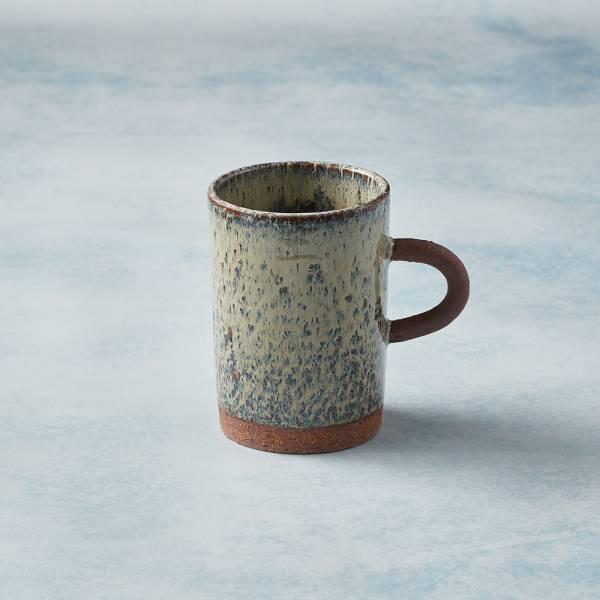 日本KOYO美濃燒 - 圓柄直筒馬克杯 - 乳白 陶杯,日本製,食器,手工,檢驗合格